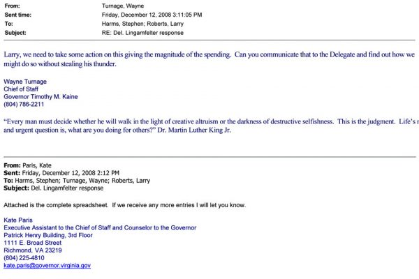 Del. Lingamfelter response