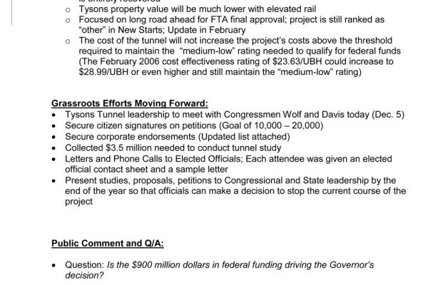 Tysons Tunnel Town Hall pg. 5