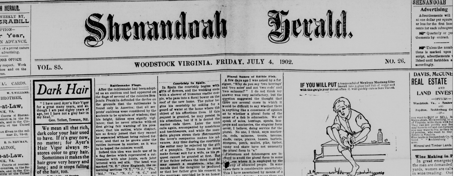 A Muted Celebration: Independence Day, July 4th, 1902–A Quartet of Friday Fourths From the Newspaper Archive of Virginia Chronicle