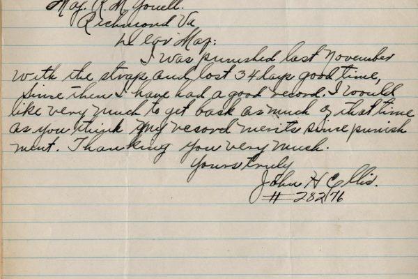 Letter from John Ellis