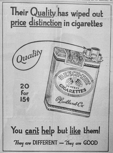 Cigarette Advertising in the 1930's – Early Years