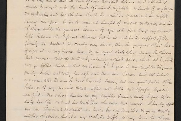 Will of Frederick Cabell