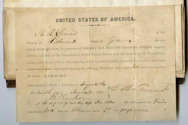 Copy of oath