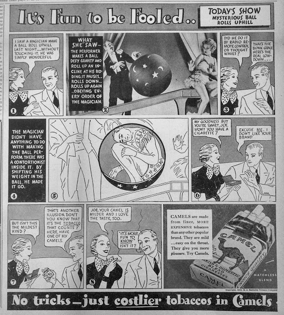 More Early 1930's Cigarette Advertising: Action & Vitality