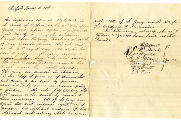 Bedford County Coroners' Inquisition pg. 2