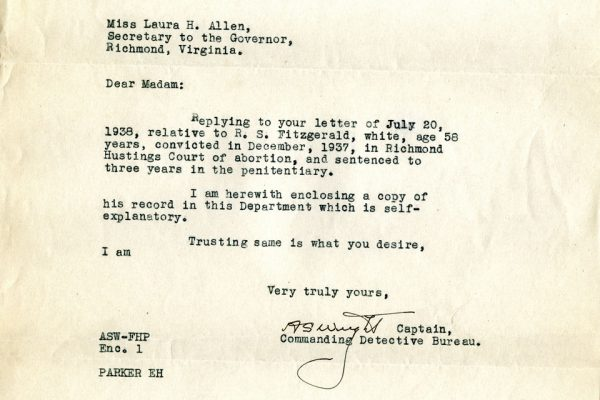 Letter from Captain A.S. Wright