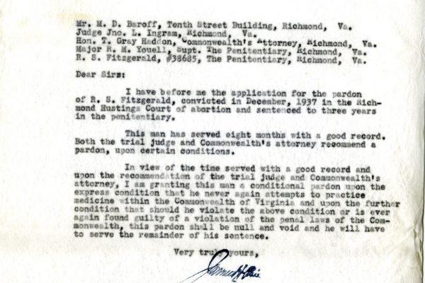 Letter from Gov. Price