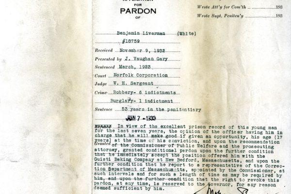 Jacket of Liverman Pardon