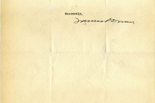 Letter from James Doran pg. 2