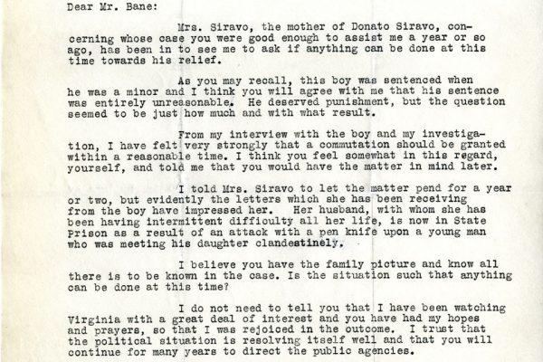 Letter from James Doran
