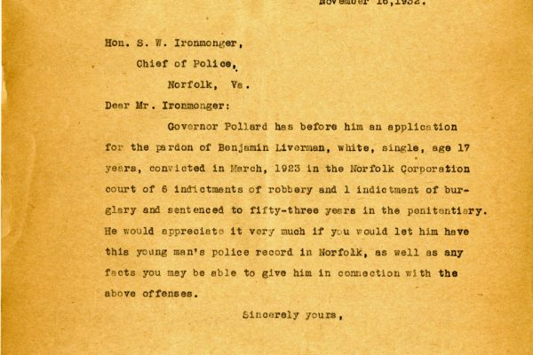 Letter from McDougall