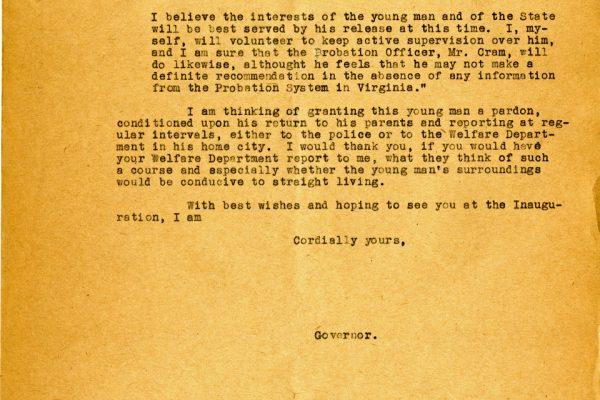 Letter from Gov. Pollard pg. 2