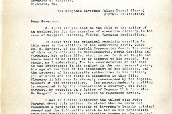Letter from Arthur James