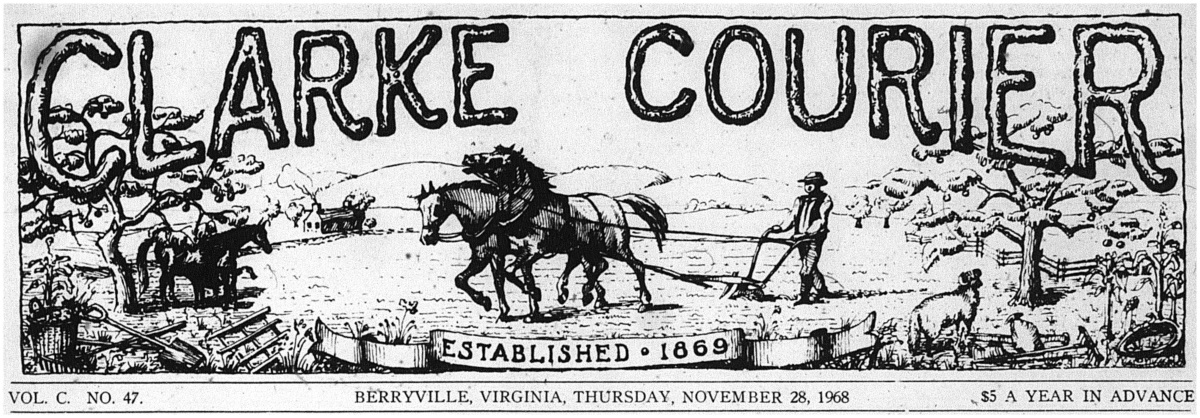 In Leaps of Ten: A Six Decade Tour of Seasonal Ads from The Clarke Courier, Berryville, 1928-1988