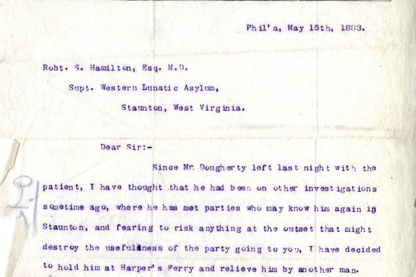 Letter to Dr. Hamilton
