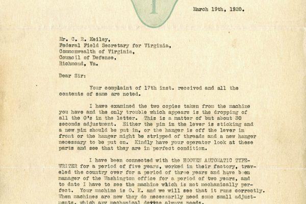 Letter from DeVault