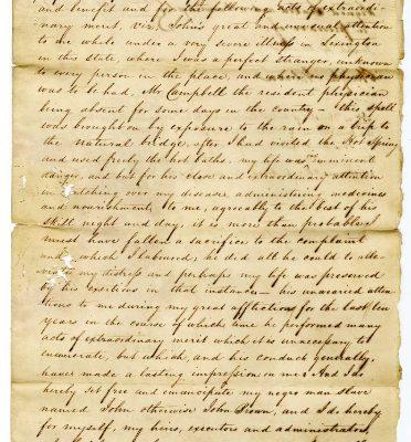 Page 1, Petersburg (Va.) Deed of Manumission, John Dunlop to John alias John Brown, 1822.