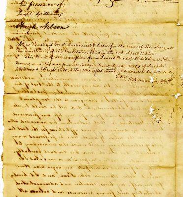Page 2, Petersburg (Va.) Deed of Manumission, John Dunlop to John alias John Brown, 1822.