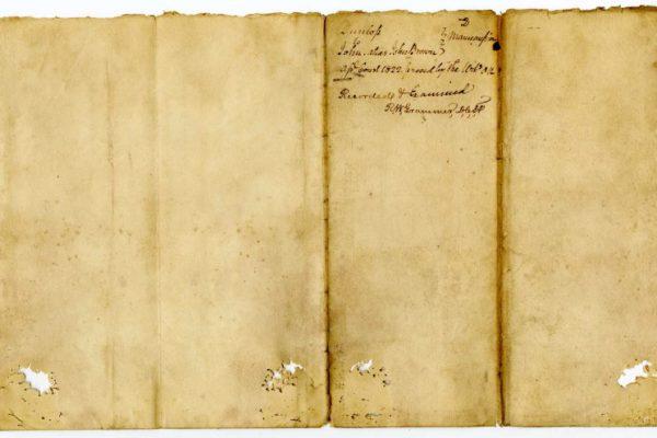 Page 3, Petersburg (Va.) Deed of Manumission, John Dunlop to John alias John Brown, 1822.