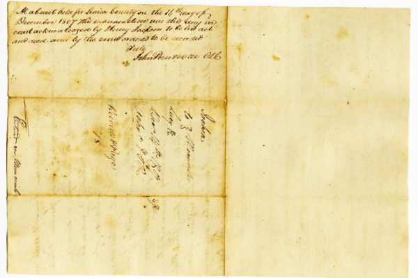 Page 2, Louisa County Va.) Deed of Manumission, Henry Jackson to Lucy and Matilda, 1807