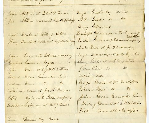 Page 1, Brunswick County (Va.) Requisition of Free Negroes, 1861.