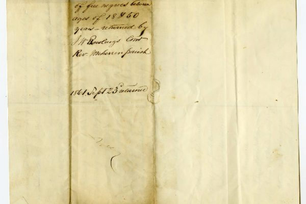 Page 3, Brunswick County (Va.) Requisition of Free Negroes, 1861.