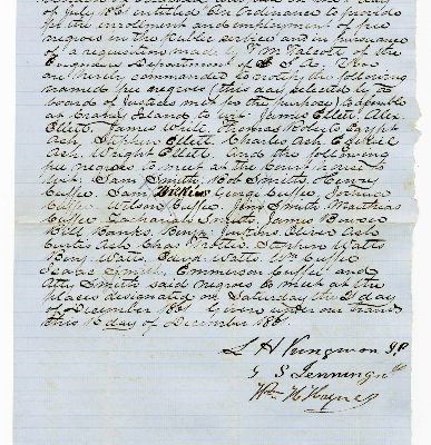 Page 1, Norfolk County (Va.) Requisition of Free Negroes, 1861