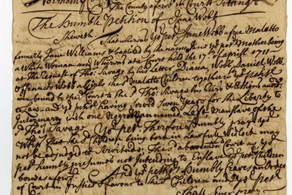Northampton Co., Judgments (Freedom Suits), Jane Webb vs. Thomas Savage, 1723