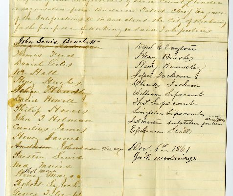 Page 1, Powhatan County (Va.) Requisition of Free Negroes, 1861.