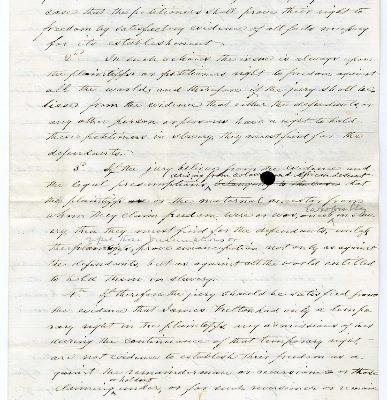 Rockingham Co., Judgments (Freedom Suits), Gracy, etc. vs Exr. Of James Fulton, 1859.