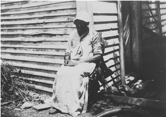 Old slave, age 106, Col. Carr plantation, Roanoke County, ca. 1935. Virginia Historical Inventory