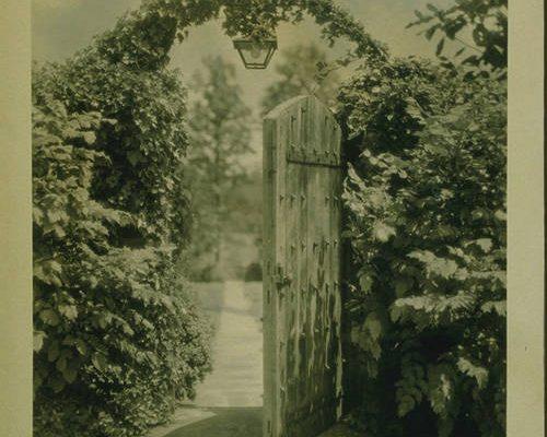 Garden gate, Agecroft Hall, undated.