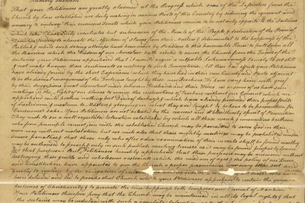 Virginia General Assembly, Legislative petitions of the General Assembly, Petition of sundry of the Inhabitants of the County of Cumberland, 1778.