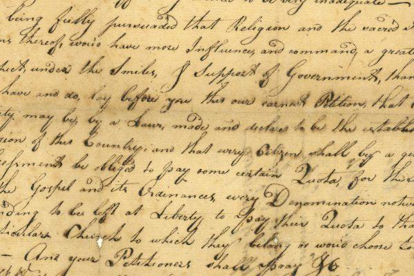 Virginia General Assembly, Legislative petitions of the General Assembly, Petition of the petitioners of Dinwiddie County, 1784