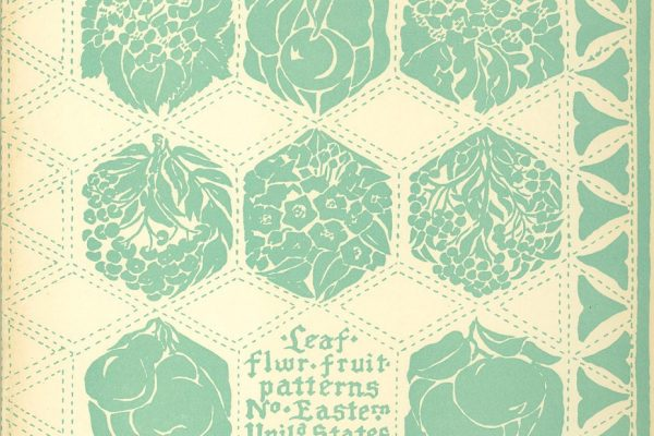 End papers, Garden Design, by Marjorie Sewell Cautley, New York, 1935.