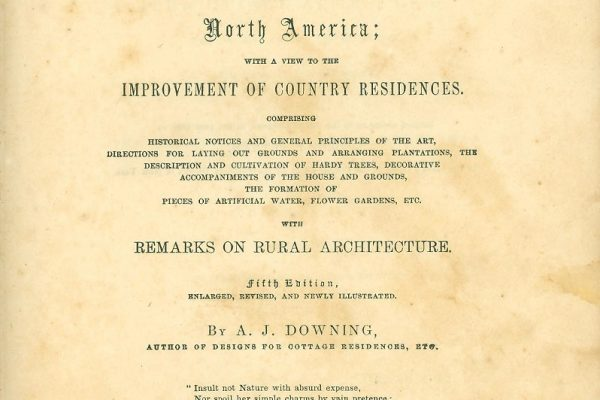 Title page, A Treatise on the Theory and Practice of Landscape Gardening, by A. J. Downing, New York, 1854.