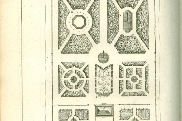 Plate 1,  La theorie et la pratique du jardinage, by Antoine-Joseph Dezallier d'Argenville, Paris, 1747.