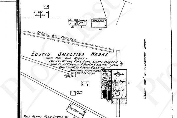 Eustis Smelting Co., Sanborn Map Co. Plate 66, 1903.