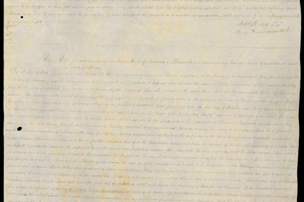 Virginia House of Delegates, Enrolled bills, 17 October 1785