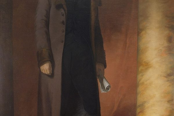 Portrait of Thomas Jefferson, copied by George Catlin from the original by Thomas Sully.