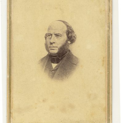 Carte-de-viste of John Ericsson, designer of the USS Monitor.