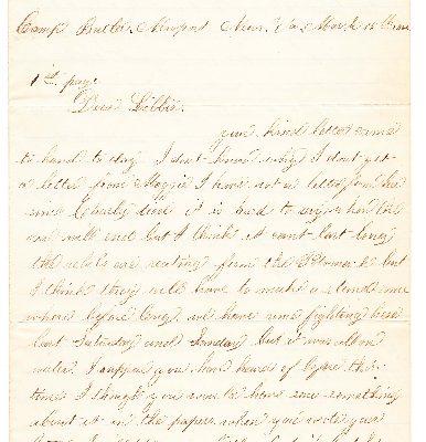 John Torrance Letter, Page 1.