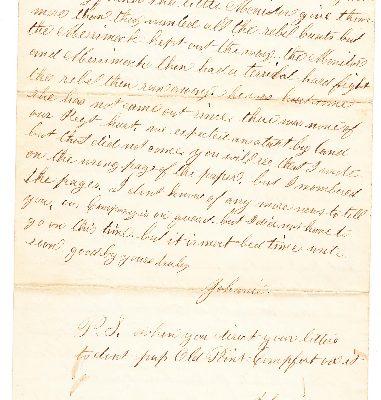 John Torrance Letter, Page 4.