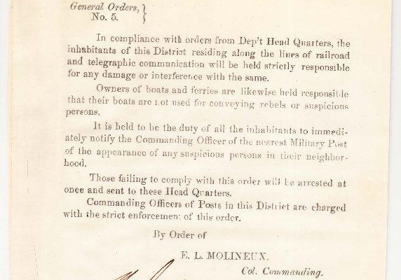 E. L. Molineux collection, 1864.