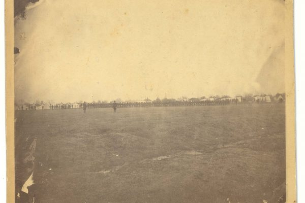 1864 photograph of Thibodaux, LA
