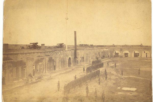 1865 photograph of Savannah harbor