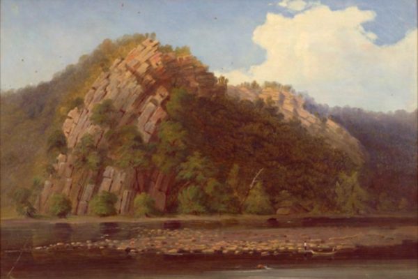 Smith, Russell, Arch of sandstone on the Potomac River, Pendleton Co., W. Va., 1844, State Artwork Collection, Library of Virginia.
