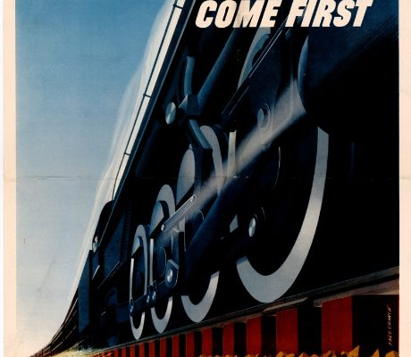 War Traffic Poster, Norfolk Southern Corporation.