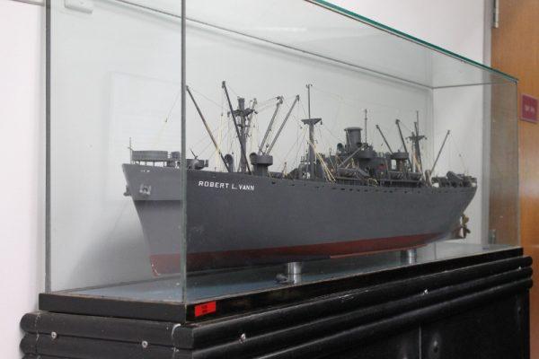SS Robert L. Vann Liberty Ship Model, Virginia Union University.