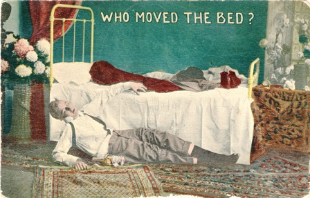 Who Moved the Bed? Temperance postcard